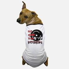 Eat sleep play bodybuilding Dog T-Shirt