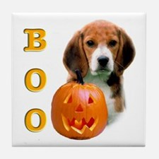 Halloween Beagle Boo Tile Coaster