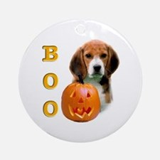 Halloween Beagle Boo Ornament (Round)