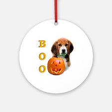 Halloween Beagle Boo Ornament (Round)