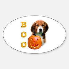 Halloween Beagle Boo Oval Decal