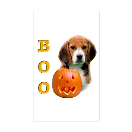 Halloween Beagle Boo Rectangle Sticker