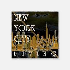 new york cityliving art illustration Square Sticke