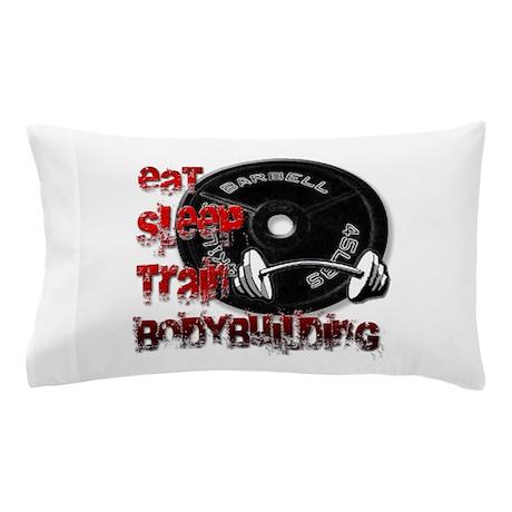 Eat sleep play bodybuilding Pillow Case