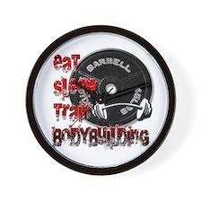 Eat sleep play bodybuilding Wall Clock