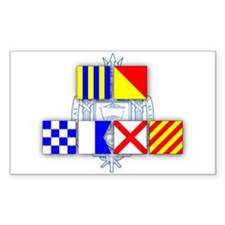 GO NAVY Signal Flags Decal