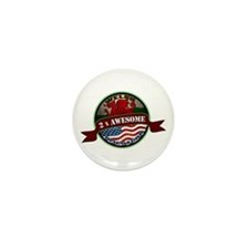 Welsh American 2x Awesome Mini Button (10 pack)