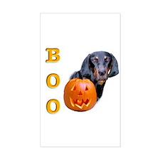 Halloween Black & Tan Boo Rectangle Decal