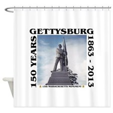 Gettysburg - 13th MASS Volunteers Shower Curtain