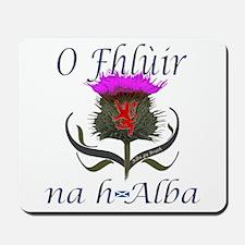 Flower of Scotland Gaelic Thistle Mousepad