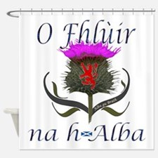 Flower of Scotland Gaelic Thistle Shower Curtain