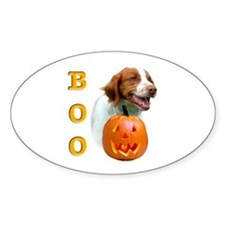 Halloween Brittany Boo Oval Decal