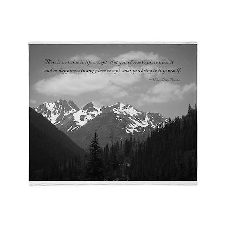 Thoreau Quote Throw Blanket