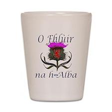 Flower of Scotland Gaelic Thistle Shot Glass