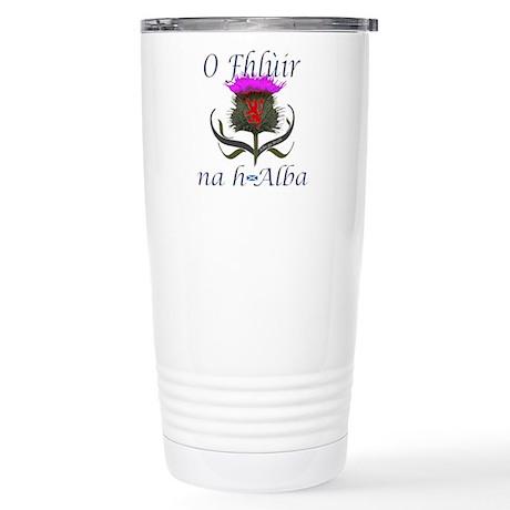 Flower of Scotland Gael Stainless Steel Travel Mug