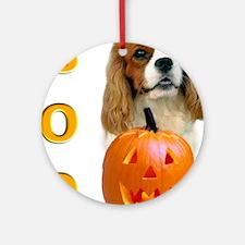 Halloween Cavalier Boo Ornament (Round)