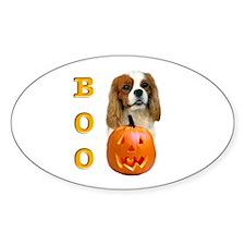 Halloween Cavalier Boo Oval Decal