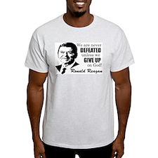 """Reagan: Never Defeated!"" T-Shirt"