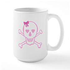 Fuchsia Girl Skull with Bow Mug