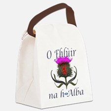 Flower of Scotland Gaelic Thistle Canvas Lunch Bag
