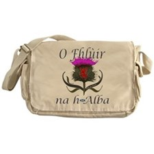 Flower of Scotland Gaelic Thistle Messenger Bag