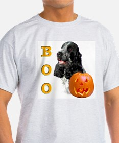 Halloween Cocker Boo Ash Grey T-Shirt