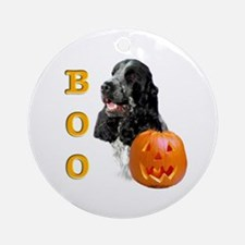 Halloween Cocker Boo Ornament (Round)