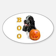 Halloween Cocker Boo Oval Decal