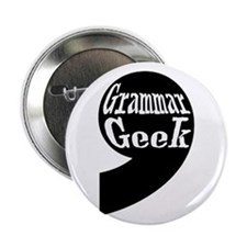 "Grammar Geek Comma 2.25"" Button"