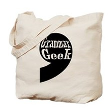 Grammar Geek Comma Tote Bag