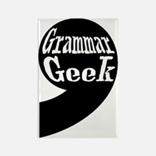 Grammar Geek Comma Rectangle Magnet
