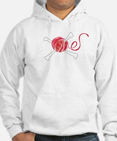 Pirate Knitter's Yarn & Crossbones Pullover Hoodie