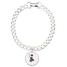 I Love Schnauzer Dog Bracelet
