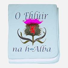 Flower of Scotland Gaelic Thistle baby blanket