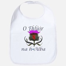 Flower of Scotland Gaelic Thistle Bib
