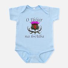 Flower of Scotland Gaelic Thistle Infant Bodysuit
