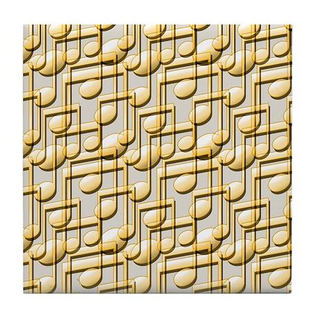 Music Notes Tile Coaster