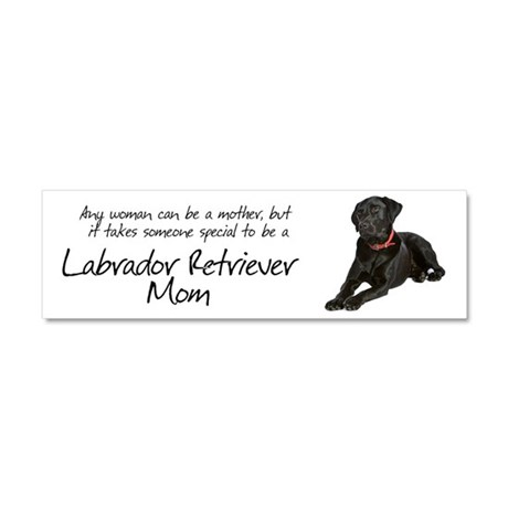 Black Lab Mom Car Magnet 10 x 3