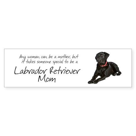 Black Lab Mom Sticker (Bumper)