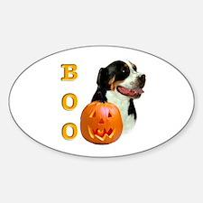 Halloween Swissy Boo Oval Decal
