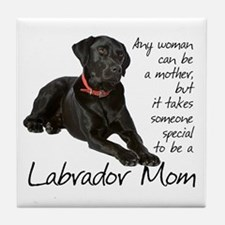 Black Lab Mom Tile Coaster