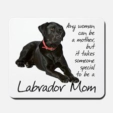 Black Lab Mom Mousepad