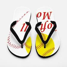 Softball mom Flip Flops