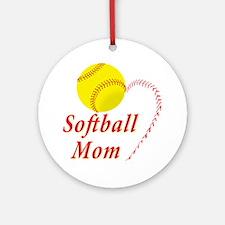 Softball mom Ornament (Round)