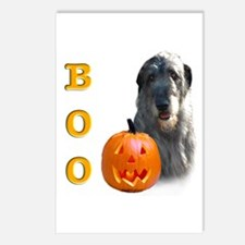 Halloween Irish Wolfhound Boo Postcards (Package o