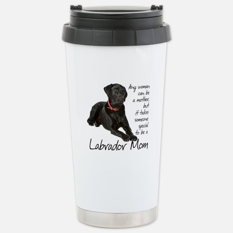 Black Lab Mom Stainless Steel Travel Mug
