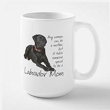 Black Lab Mom Ceramic Mugs