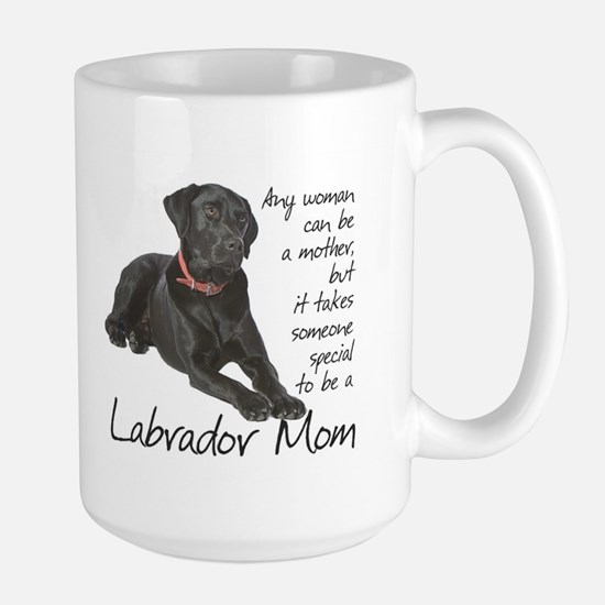 Black Lab Mom Large Mug