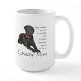 Black labrador retriever Large Mugs (15 oz)