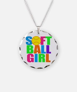 Girls softball Necklace